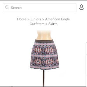 American Eagle Tribal Print Skirt